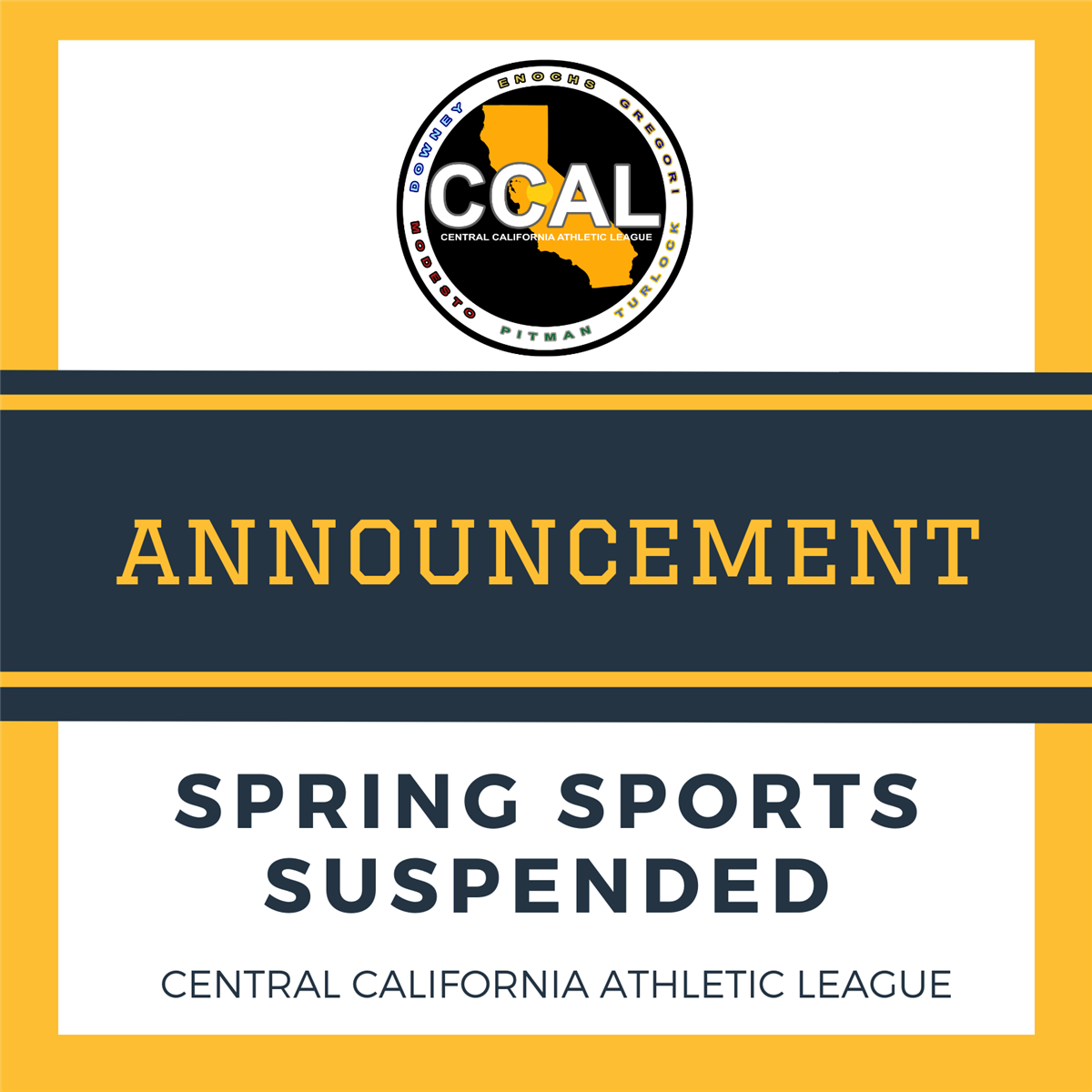 Spring Sports Suspended